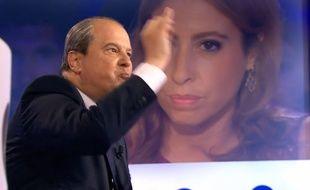 Jean-Christophe Cambadélis et Léa Salamé le 5 septembre 2015 dans On n'est pas couché