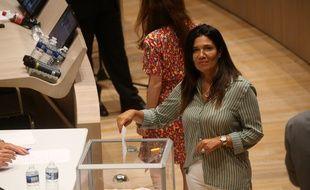 Samia Ghali lors de l'élection de Michèle Rubirola à l'issue du conseil municipale de juillet 2020