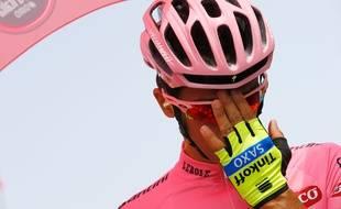 Alberto Contador sur le Giro le 14 mai 2015.