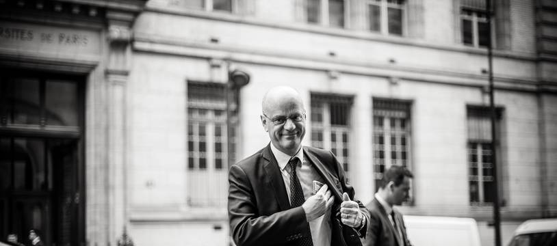 Jean-Michel Blanquer, le 24 septembre 2019, au lycée Louis-le-Grand à Paris. Crédit:NICOLAS MESSYASZ/SIPA.