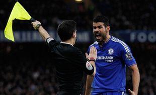 L'attaquant de Chelsea Diego Costa le 7 février 2016 lors d'un match contre Manchester United.