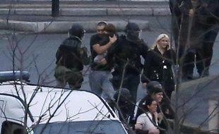 Les otages du supermarché casher de la porte de Vincennes, évacués par le 9 janvier 2015 à Paris