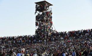 Des supporters du Nigeria lors d'un match contre l'Egypte, le 25 mars 2016, à Kaduna.