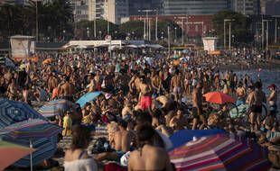 Une plage de Barcelone, le 22 juillet 2021.