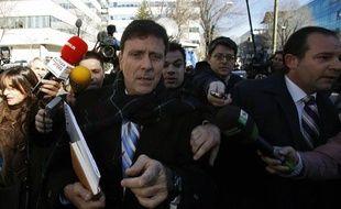 Le docteur Eufemiano Fuentes lors de l'ouverture de son procès, le 28 janvier 2013, à Madrid.