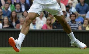 Roger Federer lors du 1er tour de Wimbledon, le 23 juin2013.