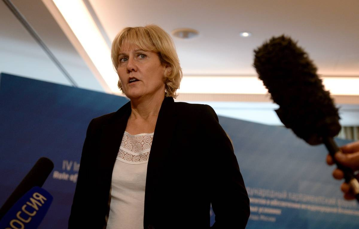 Nadine Morano,à Moscou le 1er octobre 2015. AFP PHOTO/VASILY MAXIMOV. – AFP
