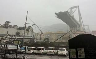 Le Pont Morandi, à Gênes, s'est effondré mardi 14 août.