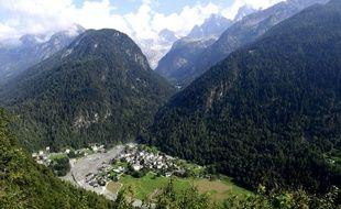 Le village suisse de Bondo, le 25 août 2017 (image d'illustration).