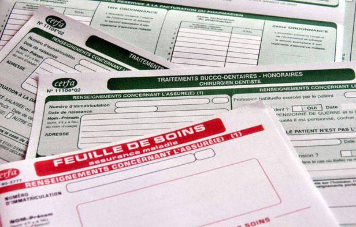 Feuilles de soins de la Sécurite sociale. – B.R. PRODUCTIONS/SIPA