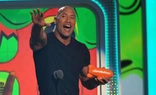 Dwayne Johnson lors d'un show Nickelodeon, le 23 mars 2013, à Los Angeles.