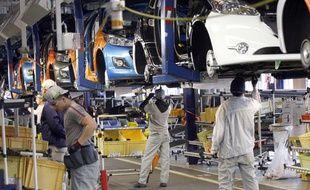 Une usine PSA Peugeot Citroën à Poissy.