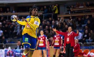Loui Sand avec l'équipe de Suède, en 2018