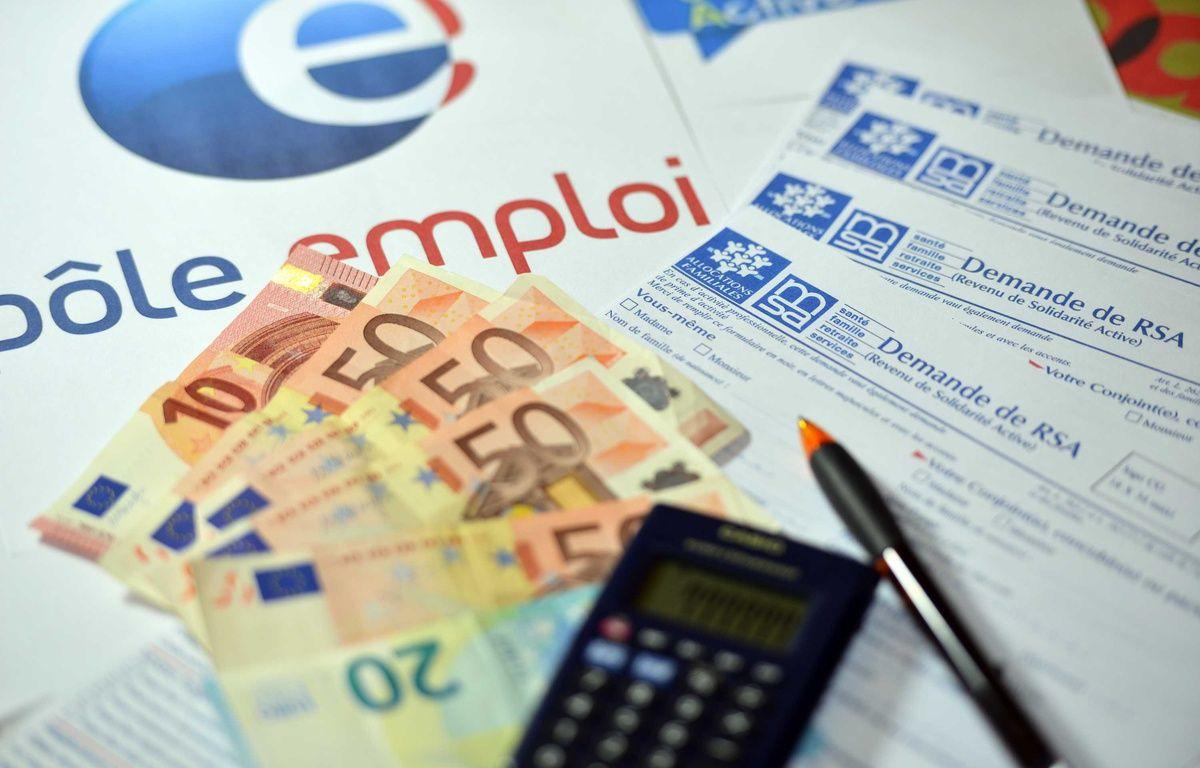 Illustration : Pôle emploi et allocations-chômage. – ALLILI MOURAD/SIPA