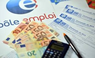 Illustration : Pôle emploi et allocations-chômage.
