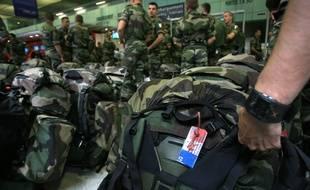 Des militaires français partant en opération. Illustration.