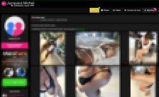 Capture d'écran d'une des pages du site Jacquie et Michel présentant des photos amateurs.