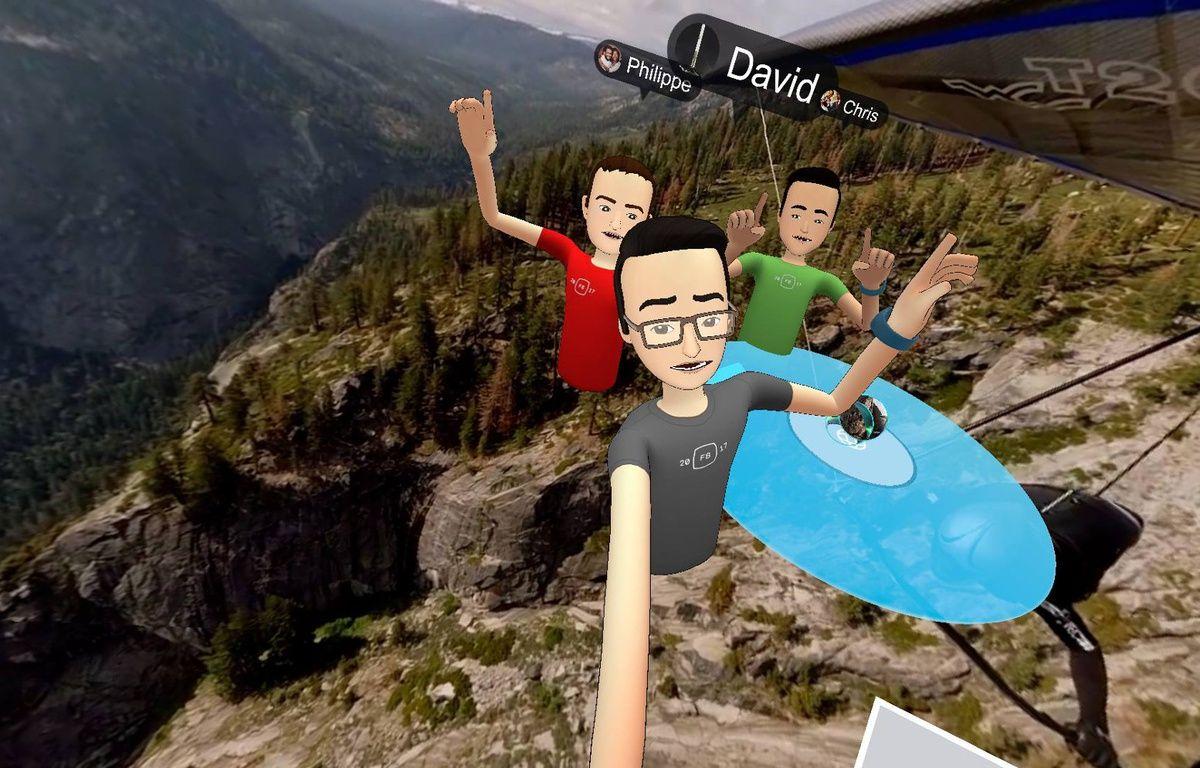 Un selfie virtuel dans l'app Spaces de Facebook pour l'Oculus Rift. – 20 MINUTES