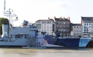 L'œuvre sera surtout visible du côté droit de la coque, face à l'île de Nantes.