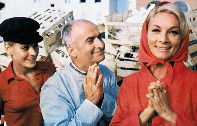 Genevièe Grad, Louis de Funès et Claude Gensac, dans «Le Gendarme se marie», en 1968.