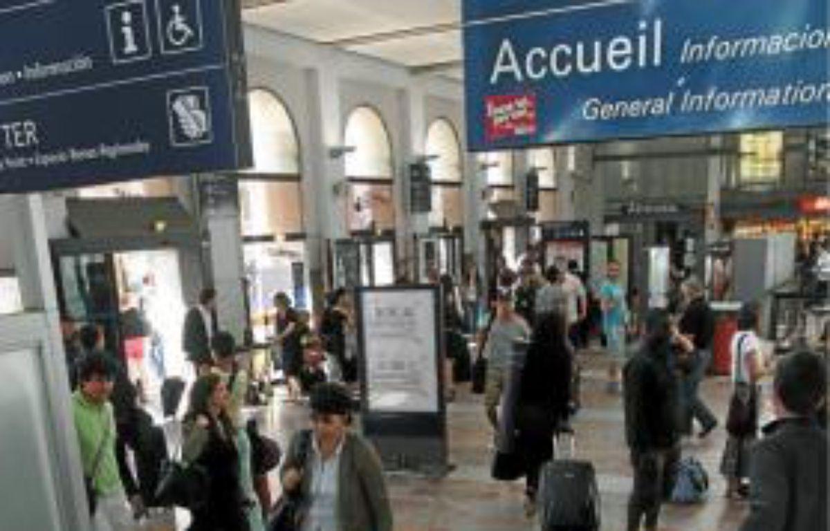 Le débat s'est invité lundi en gare de Montpellier. –  c. castieau / 20 MINUTES