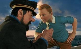 Andy Serkis et Jamie Bell incarnent respectivement le capitaine Haddock et Tintin grâce à la motion capture.