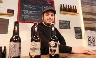Clément Auvitu a créé en 2015 la brasserie RZN à Rennes.