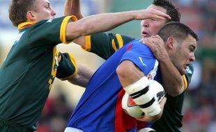 Un match de rugby à XIII entre la France et l'Australie, le 21 novembre 2004 (photo d'illustration).
