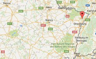 Localisation de Schirrhein (67)