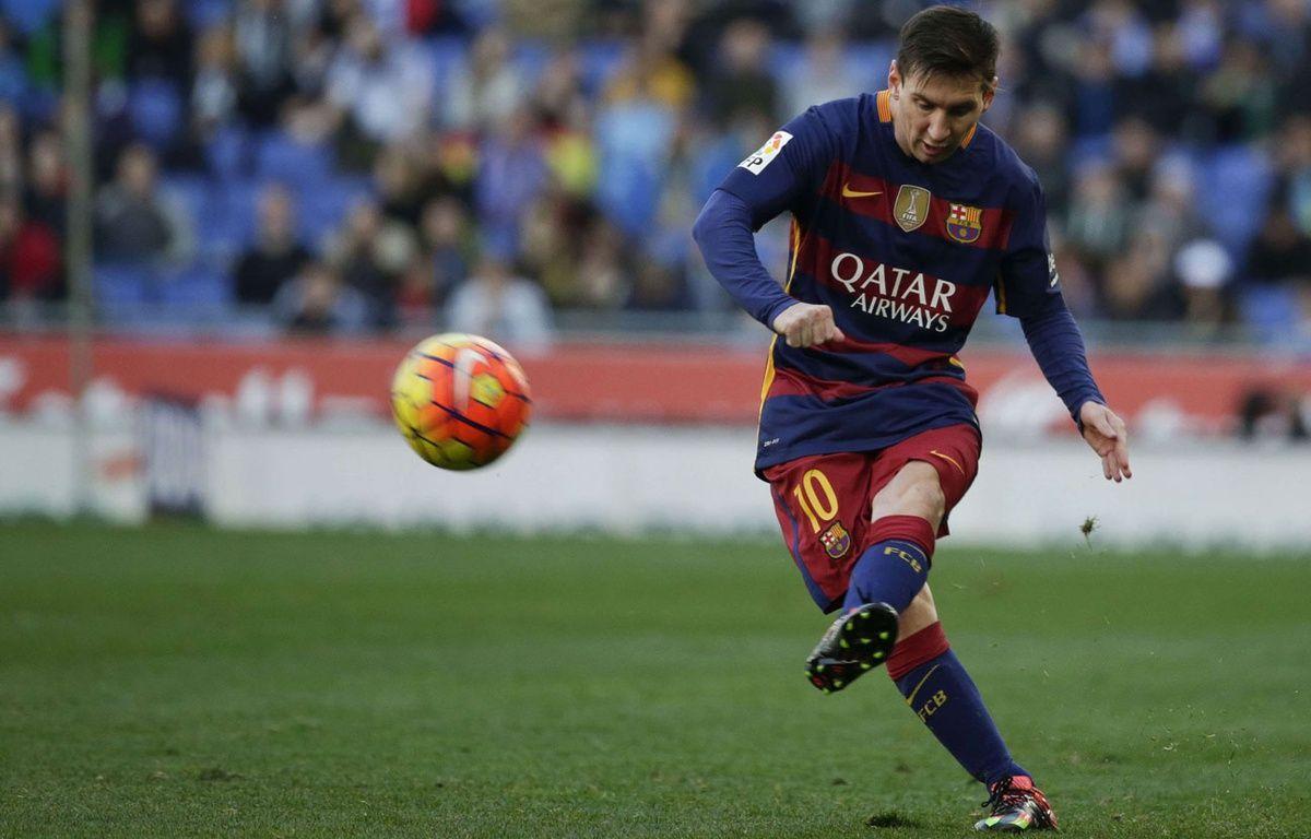 Lionel Messi lors du match entre le Barça et l'Espanyol le 2 janvier 2016. –  Emilio Morenatti/AP/SIPA