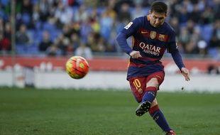 Lionel Messi lors du match entre le Barça et l'Espanyol le 2 janvier 2016.