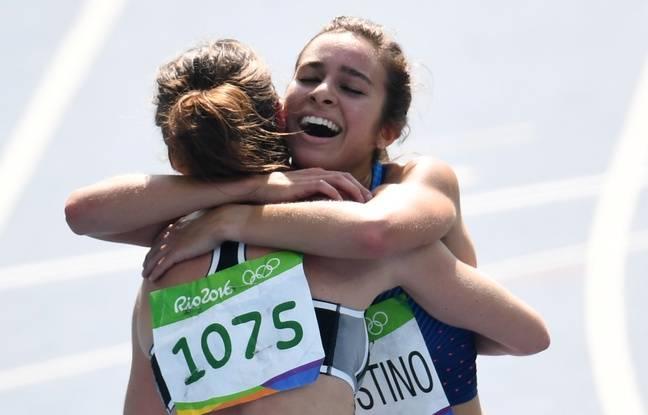 Les deux femmes se sont remerciées à la fin de la course