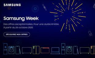 Pendant deux semaines à partir du 26 octobre 2020, Samsung propose des promos exlusives à l'occasion de la Blue Week.