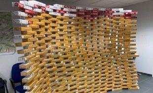 Les douanes ariégeois ont saisi le soir de la mise en oeuvre du confinement 338 cartouches dans une voiture.