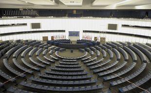 Illustration. L'hémicycle du Parlement européen à Strasbourg. le 18 09 2008