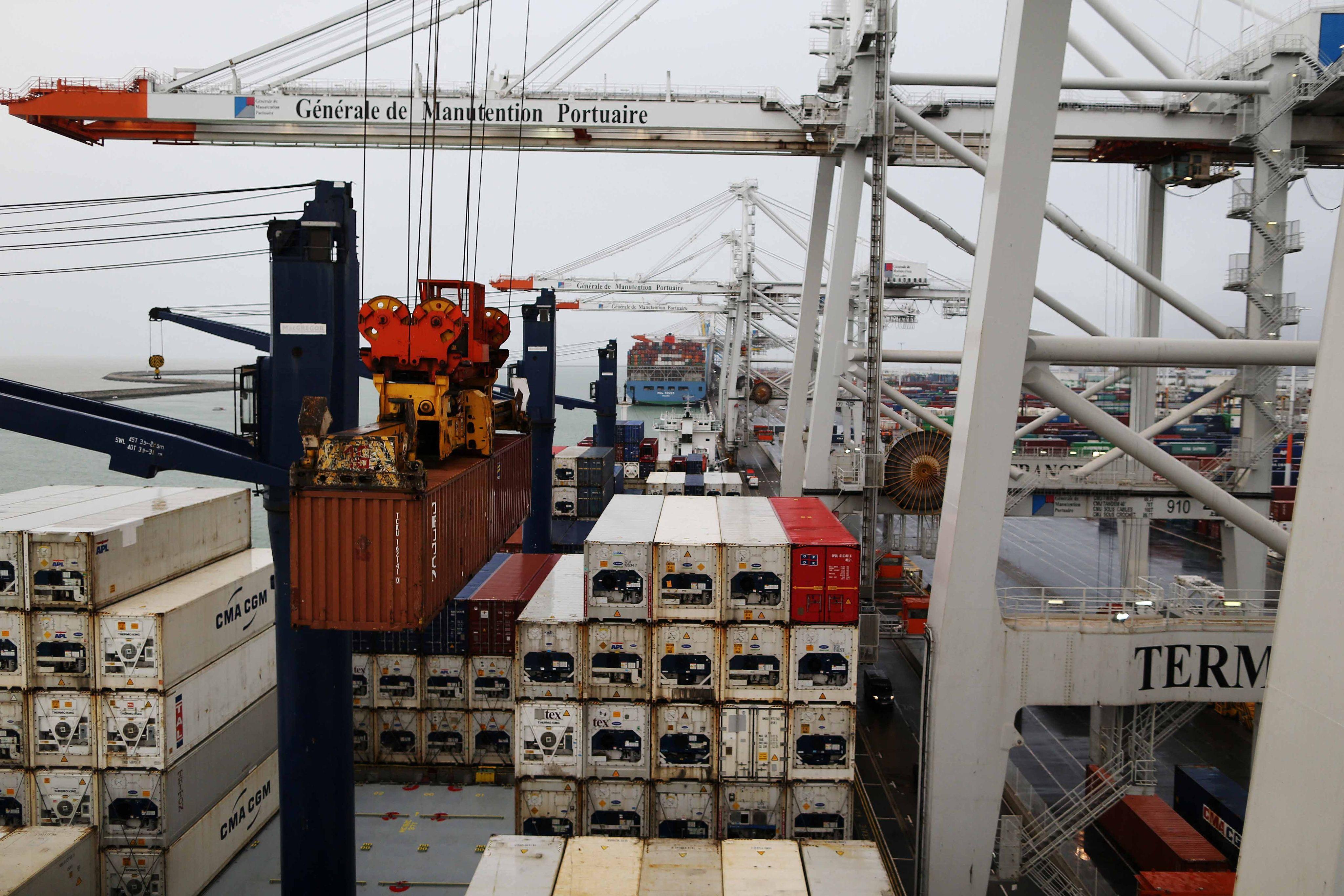 Dans le port du Havre, en 2017.