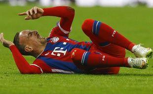 Franck Ribéry lors du match entre le Bayern Munich et le Shakhtar Donetsk le 11 mars 2015.