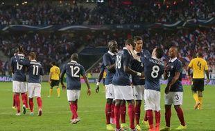 Les Bleus lors de leur match amical contre la Jamaïque le 8 juin 2014.