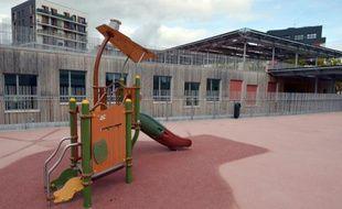 La cour de récréation de l'école PEF à Saint-Ouen le 7 octobre 2015