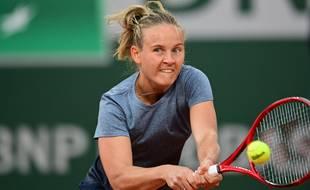 Fiona Ferro à Roland-Garros.