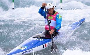 Denis Gargaud-Chanut en juin 2019 lors d'une étape de Coupe de monde au Royaume-Uni.