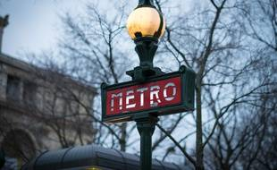 Une station de métro (illustration).