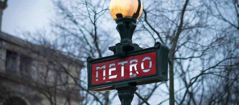 Une station de métro. (Illustration)