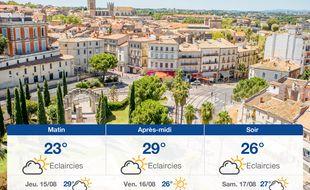 Météo Montpellier: Prévisions du mercredi 14 août 2019