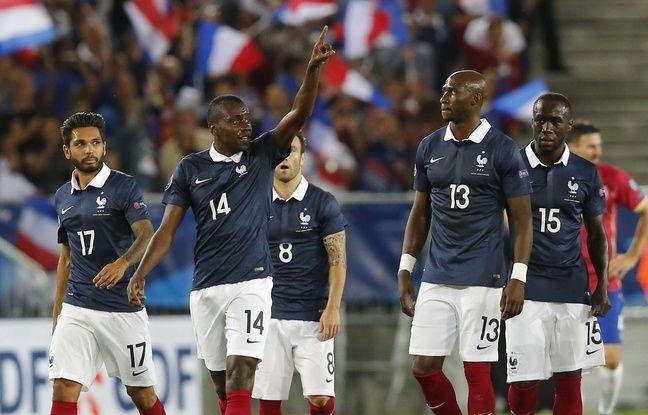 Blaise Matuidi et les Bleus lors de la victoire de la France contre la Serbie (2-1) en amical, le 7 septembre 2015  Bordeaux.