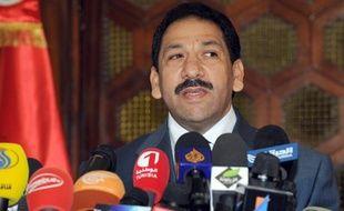 Le ministre de l'Intérieur tunisien, Lotfi Ben Jeddou, lors d'une conférence de presse à Tunis, le 26 juillet 2013.