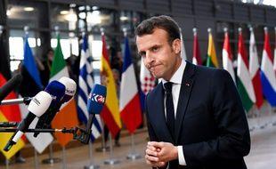 Emmanuel Macron lors du dernier sommet européen à Bruxelles.