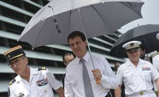 Manuel Valls en visite en Martinique le 17 octobre 2013.