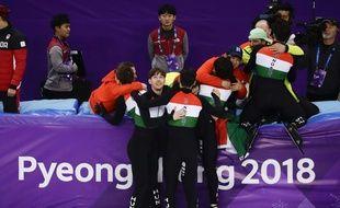 La Hongrie a remporté le relais 5.000 m de short-track à Pyeongchang