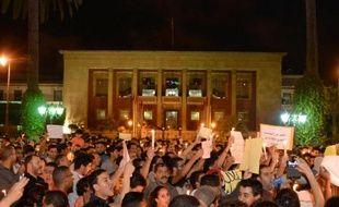 Manifestation à Rabat, le 7 août 2013, en réaction à la grâce royale récemment accordée par erreur à un pédophile espagnol